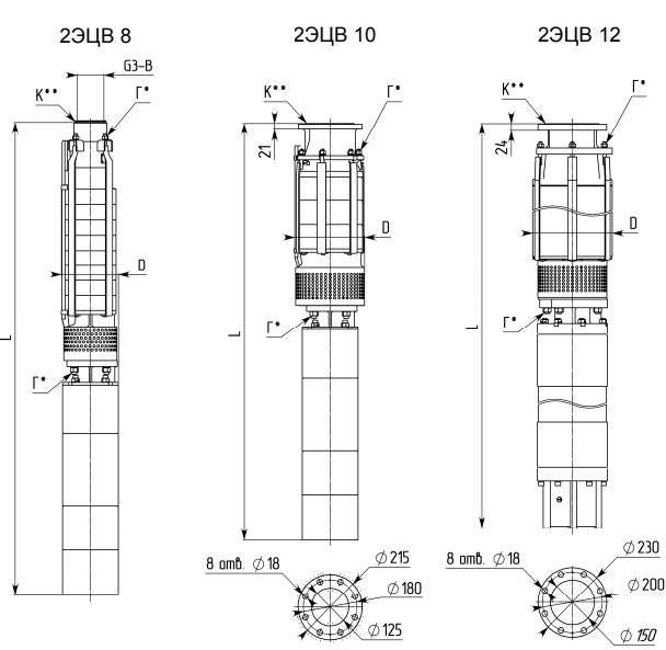 Насос 10-65-110нрк в разрезе