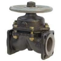 Клапан (вентиль) чугунный диафрагмовый футерованный фланцевый 15Ч74П, 15Ч75П, 15Ч76П в Ставрополе